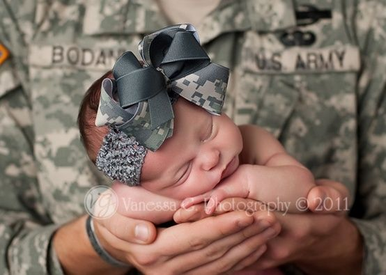 Have to get her a military bow now lol.  #army #baby #military