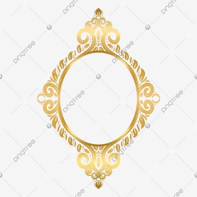 Decorative Islamic Frame Gold Circle Floral Ornament Decor Ornament Damask Png Transparent Clipart Image And Psd File For Free Download Ornament Frame Frame Frame Decor