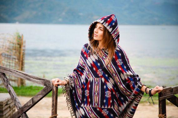 Poncho Ethnic Original Hippy Style Boho Trend Warm by PonchoStore