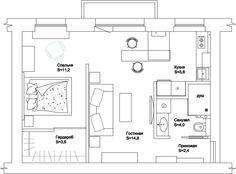 квартира 40 метров дизайн - Поиск в Google