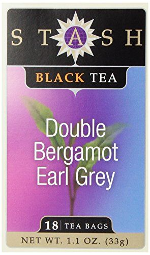 Stash Tea Double Bergamot Earl Grey Tea, 18 Count Tea Bags in Foil (Pack of 6)
