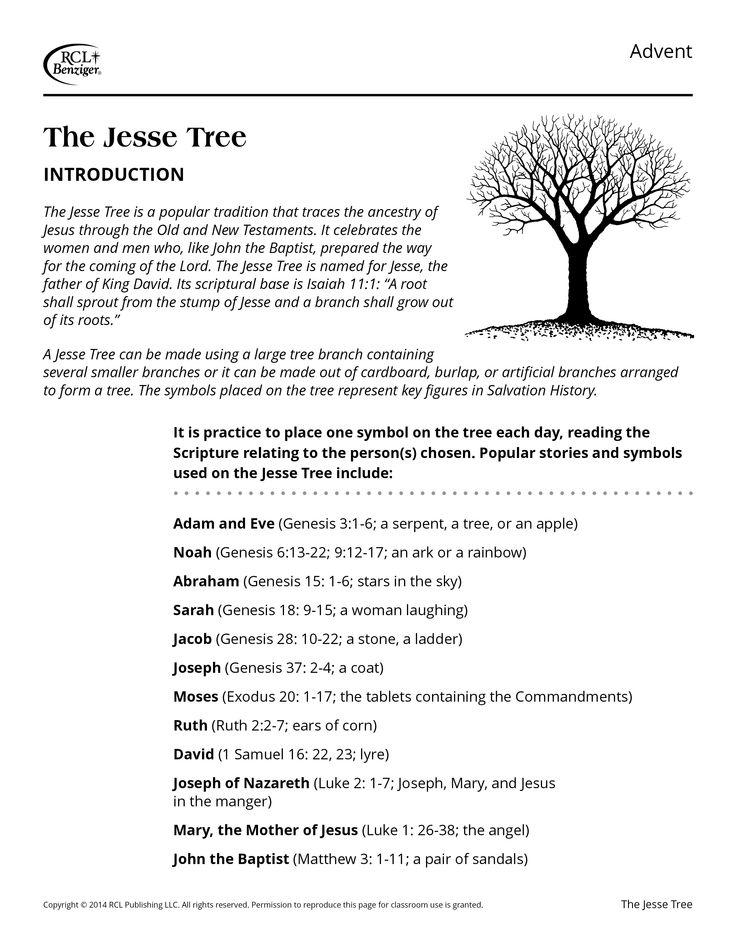 ... Jesse Tree on Pinterest | Advent season, Jesse tree ornaments and