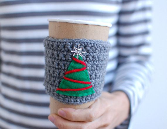 Christmas tree Coffee cup cozy by thecozyproject, $16.00