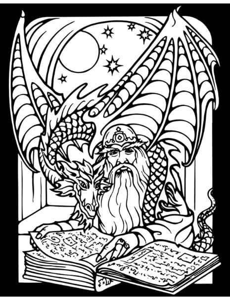 171 best images about monsters zombies witches for Wizard coloring pages