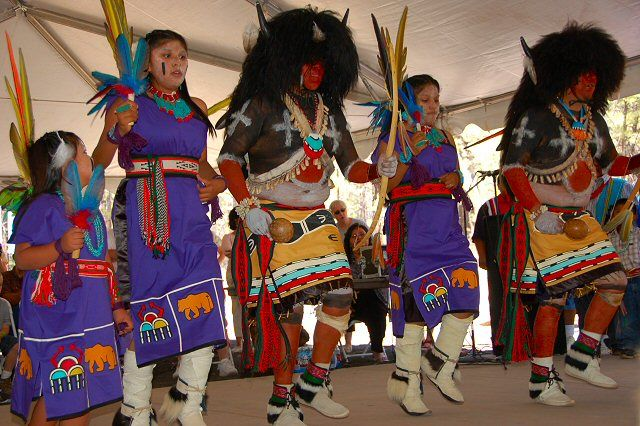 Hopi Dancers performing at the Museum of Northern Arizona