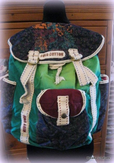 Old Cotton Cargo rugzak 1185 groen | ♥ Old Cotton Cargo Handgemaakte tassen | Malaika Creatives