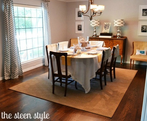 rug under dining room table for the home pinterest