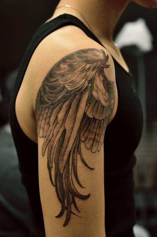 I like the feather variations. Chronic ink Tattoos, Toronto Tattoo - Kevin's wing for Leo.
