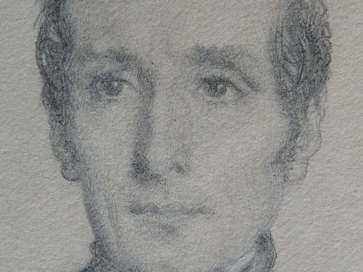 CHASSERIAU Théodore,1844 - Portrait de Lamartine - drawing - Détail 03