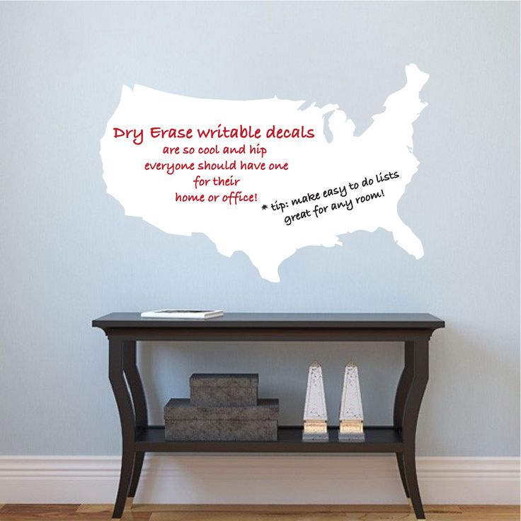US Map Dry Erase Wall Decal   Modern Wall Decal Murals   Primedecals