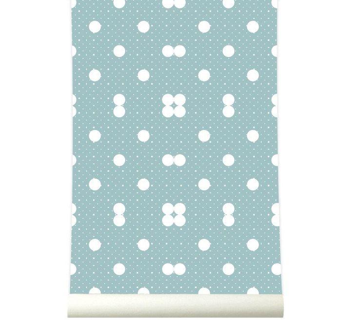 Behang Dots Softblue