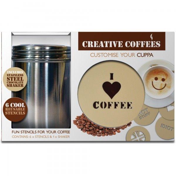 Trasforma in pochi secondi i tuoi cappuccini in creazioni originali e divertenti. Nel Kit troverai: 6 sagome diverse e 1 spargicacao in acciaio inox.