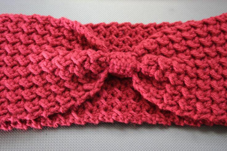 Crochet Tutorial: Moss Stitch Ear Warmer