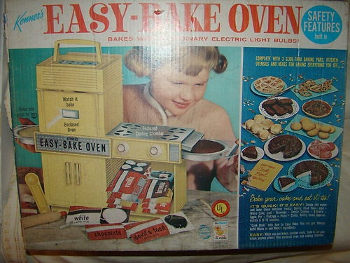 1964 Vintage Easy Bake Oven Kenner #1600 Box & Accessories BEFORE BETTY CROCKER!