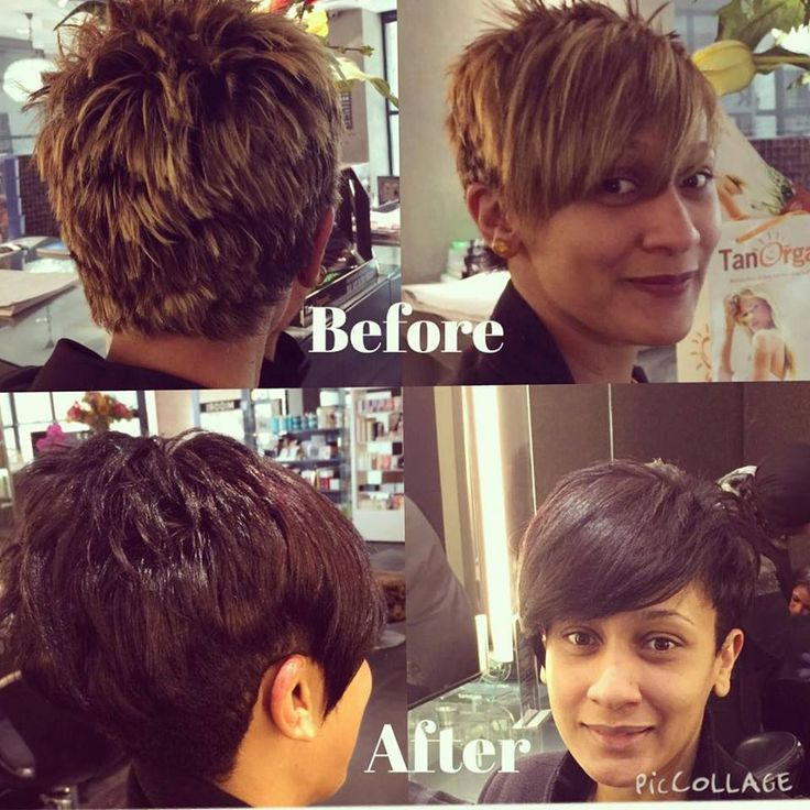 Stunning hair transformation for a regular Midori client with a funky short hair cut by Carmel at Midori. Ts & Cs apply - when you like Midori Eco Salon - it entitles you to specials.