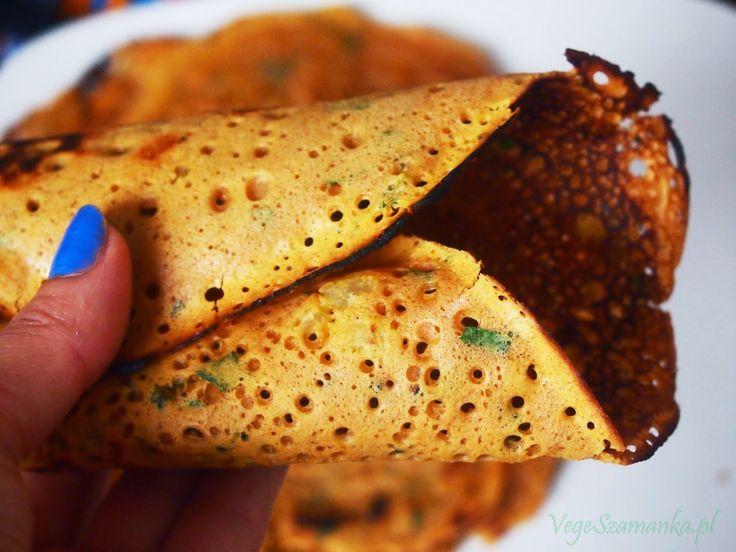 Indyjskie naleśniki. Superprosty przepis #veganindian #breakfast