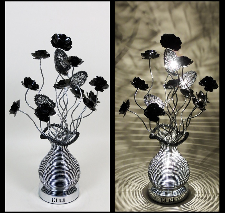 22 best black wire lamps images on pinterest black flowers silverblack wire lamp with bloomed black flowers and illuminating black acorn shades http greentooth Gallery