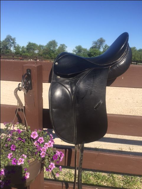 used dressage saddle for sale, $150.00