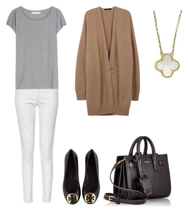 """Untitled #7"" by hongjina on Polyvore featuring French Connection, Acne Studios, The Row, Tory Burch, Yves Saint Laurent, Van Cleef & Arpels, women's clothing, women's fashion, women and female"