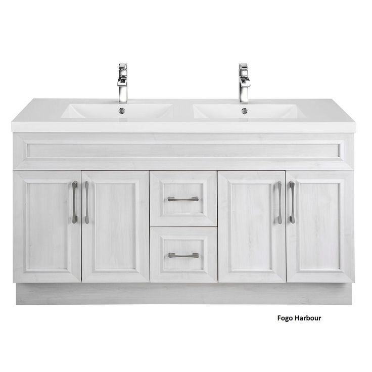Cutler Kitchen & Bath Classic Collection 60-inch Transitional Door Vanity with Double Sink