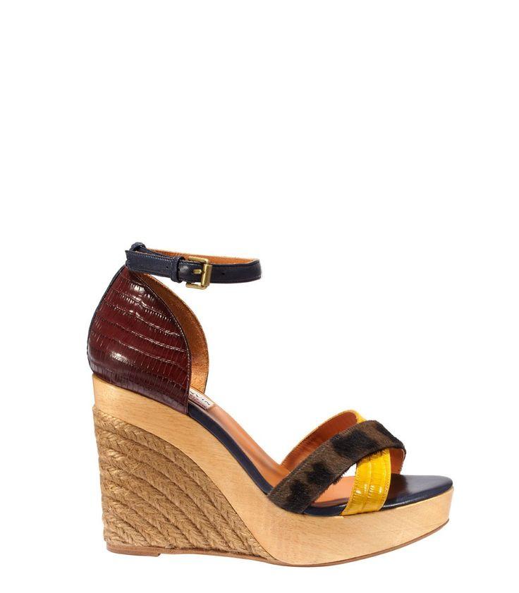 Lanvin: Leather Espadrille Wedge Sandal