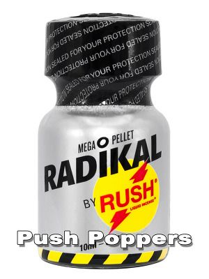 Radical Rush is now available in the 10ml bottle! #Poppers #SmallPoppers #poppers_com #RadikalRush