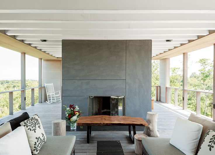 Cement Board For Fireplace Part - 29: Rooftop Deck With Outdoor Fireplace Clad In Cement Board Panels   Live    Pinterest   Rooftop Deck, Cement And Prefab
