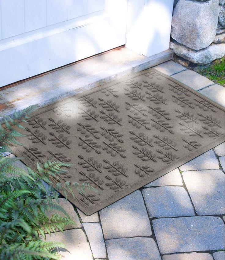 Everyspace Recycled Waterhog Doormat, Twig Leaf Door mat