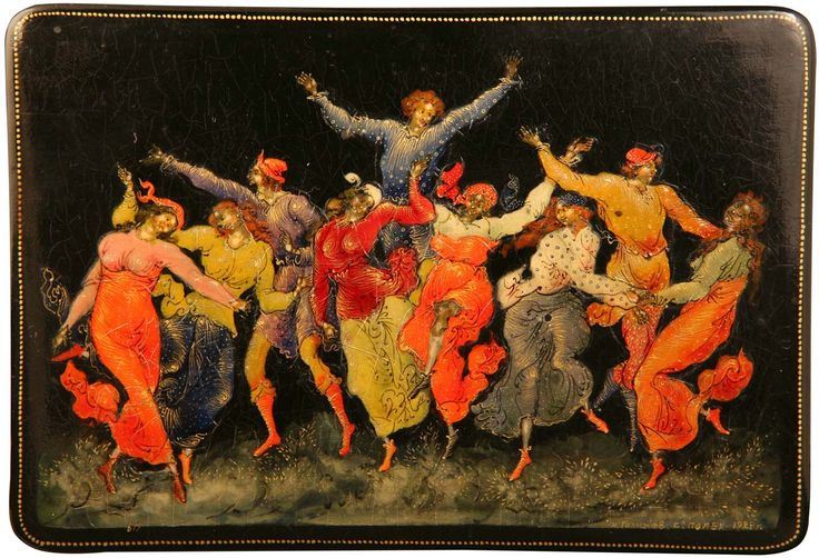 ШКАТУЛКА «ПЛЯСКА» («ХОРОВОД») - Всероссийский музей декоративно-прикладного и народного искусства