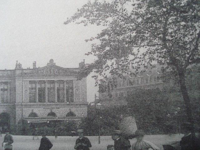 Neues Theater in Leipsic, Saxony, 1893. C. F. Langhaus. Gelatine