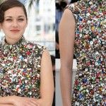 Festival di Cannes 2014: Marion Cotillard la più originale con un abito di bottoni