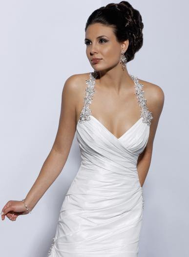Lace Halter Wedding Dress Fitted Open Back Bridal Gown                                                                                                                                                                                 More