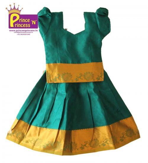Pattu Langa for Kids . Pattu Pavadai . Traditional wear . To buy www.princenprincess.in #langa #voni #pattu #pavadai #pattuPavadai #silk #kancheepuram #silk