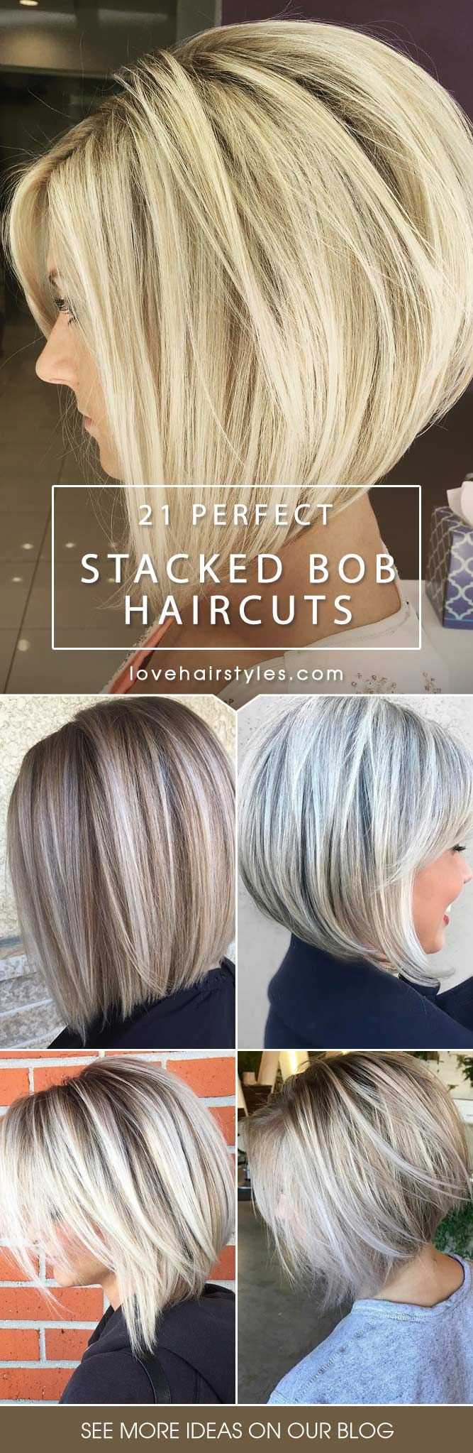 Stacked Bob Hairstyle 2classic stacked bob with highlights 40 Fantastic Stacked Bob Haircut Ideas