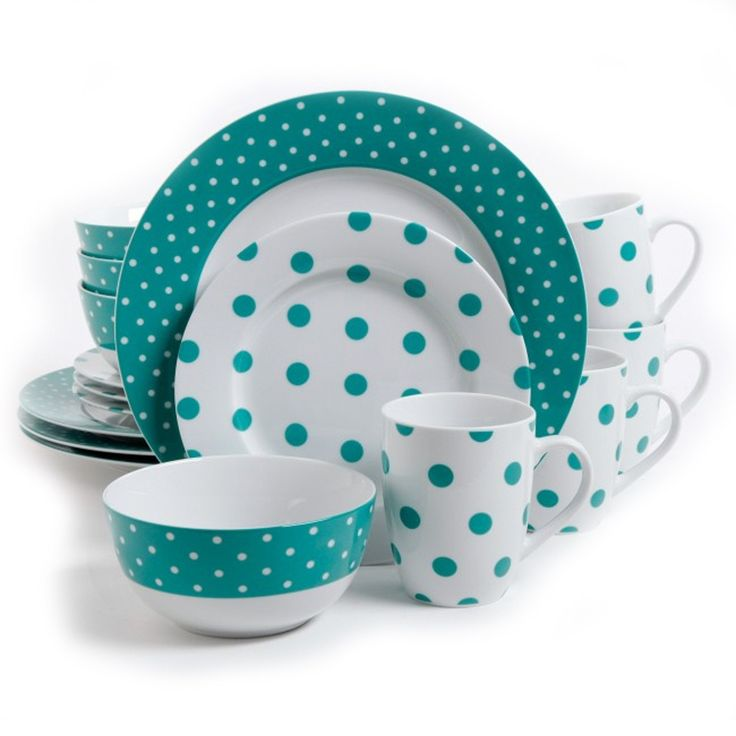 Isaac Mizrahi Dot Luxe 16 Piece Dinnerware Set, Teal. The Isaac Mizrahi Dot Luxe 16 Piece Dinnerware Set is a distinct and striking blend of form and function. These durable and elegant ceramics comes in a variety of gorgeous patterns in either: Orange, Navy, Chartreuse, or Teal. Take your next dining occasion to a higher level of sophistication and fun with these wonderful and eye-catching pieces. Each set comes complete with 4-each of stunning dinner plates, salad plates, bowls and mugs…