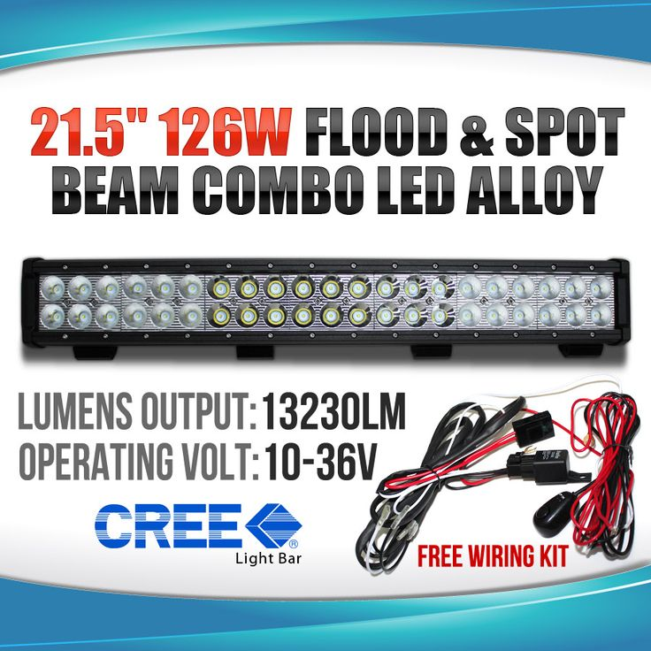 126W CREE LED Light Bar FLOOD SPOT COMBO ALLOY Work Light 4WD BOAT UTE DRIVING