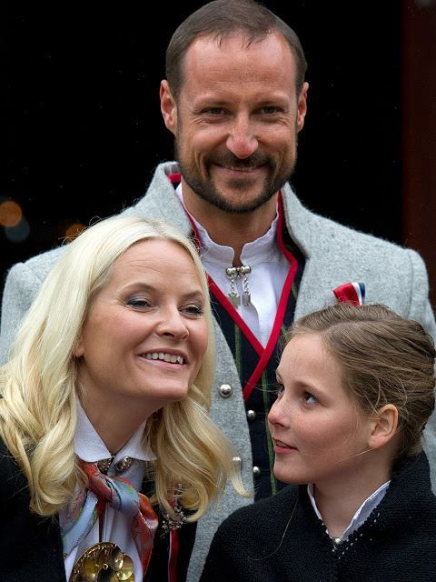 MyRoyals:  Norway's National Day, May 17, 2015-Crown Princess Mette-Marit, Crown Prince Haakon, Princess Ingrid Alexandra