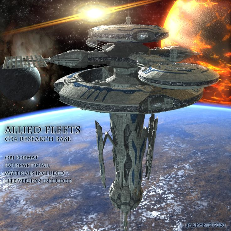 Space And Scifi Things With Zmodeler: Allied Fleets G34 Research Base - $30