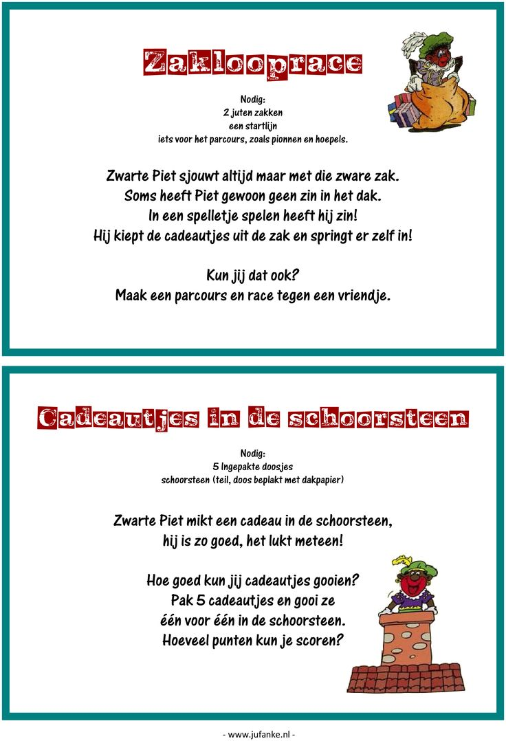 Feest: spelletjesmiddag Sinterklaas 2/9