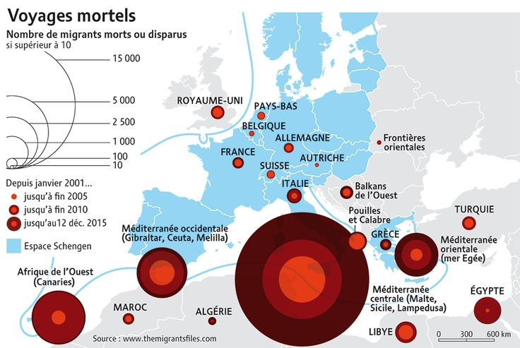 Migrants morts et disparus en 2015. Le droit d'asile remis en question, par Cécile Marin (Le Monde diplomatique, janvier 2016)
