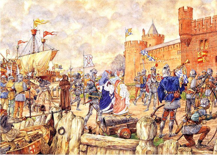 Jacoba van Beieren voor Gorinchem - 1417 (Hoeksche en Kabeljouwse twisten)