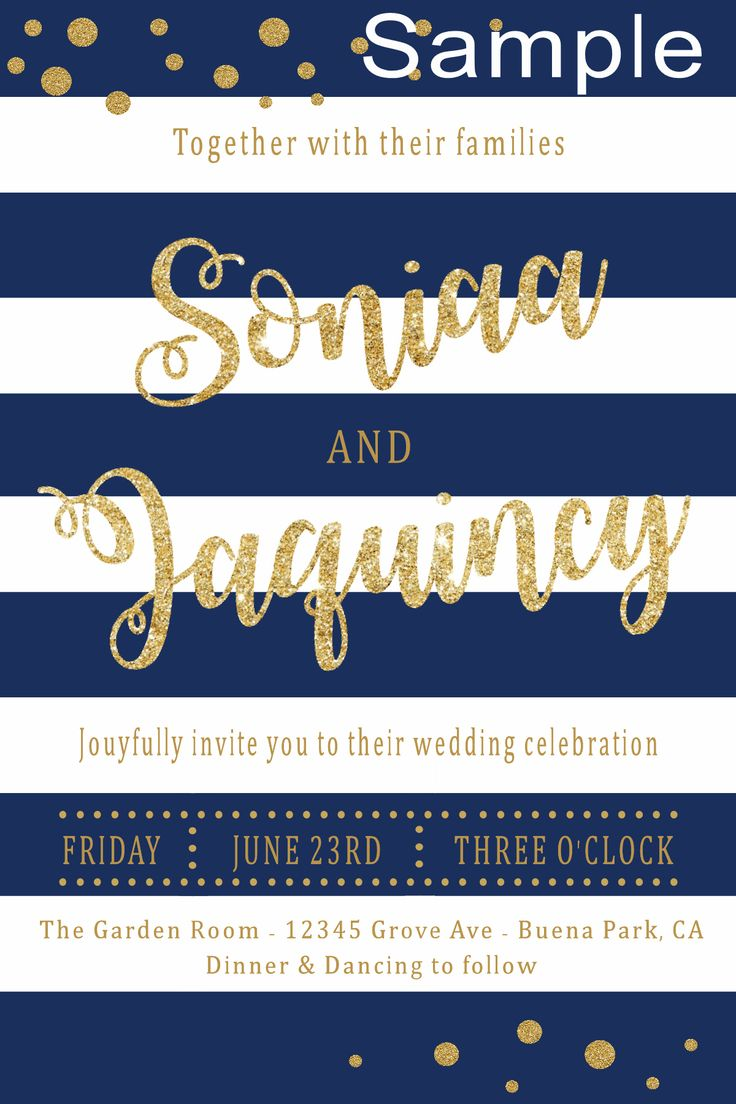 70 best save the dates bridal shower wedding invitations images navy gold wedding invitation please click on the picture twice to follow me on facebook to place orders please message me on fb or at the email address stopboris Images