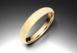 Alianza de oro rojo de 18K modelo Media caña alta - Alianzas de oro - Clemente Navarro by LK #bodas #alianzas #novia | cnavarro.com