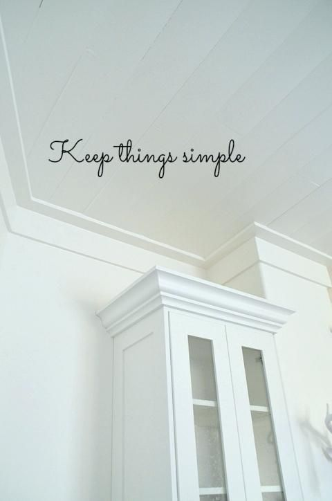 Craftsman Style Crown Molding Keep Things Simple Love This Ceiling