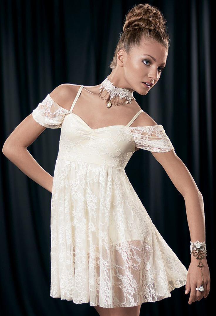 Weissman™ | Empire-Waist Drape Sleeve Dress