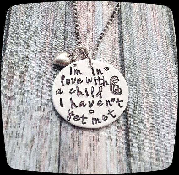 Pregnancy Necklace, Soon to be Mommy Necklace, New Mom Gift, Pregnancy Gift, Gift For Mom, I'm In Love With A Child