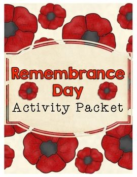 Remembrance Day Activity Packet $2.50