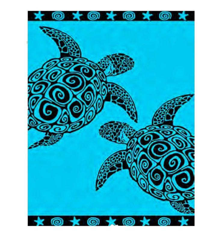 Double Size Beach Towel - Turquoise Turtle £26.00 - Beach Towels - Double Size towels Beach bags   Beach towels   Windbreak   Beach chairs   Beach parasols   Beach Tents   Beach Toys   Deckchairs - The Seaside Company