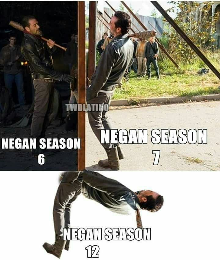We can only hope Rick pops a cap on him before then. Negan is SO irritating.