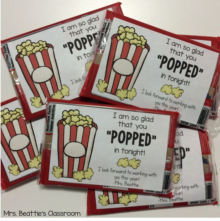 "Thank parents or classroom volunteers for ""popping"" in with these cute popcorn labels. FREE from Mrs. Beattie's Classroom!"